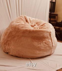 15 Off Extra large light Peach Pink Bean Bag Cover Only. FREE Worldwide Shipping