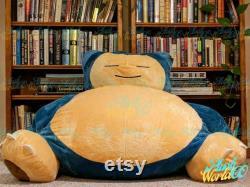 160cm Snorlax Bean Bag Chair Cover -(COVER ONLY) Bear bean bag -Giant Snorlax Plush -Large animal plush cover