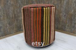 18x18 ottoman pouf round pouf floor pouf Pouf Cover Unstuffed Pouf Ottoman footstool pouf Beanbag floor pillow floor cushion vintage pouf
