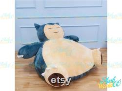5.2ft Snorlax Bean Bag Chair Cover -(COVER ONLY) -Giant Snorlax Plush