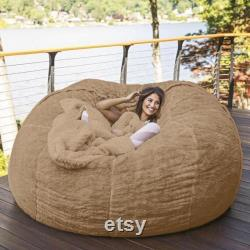 6-FT Large Giant Fuzzy Bean Bag Chair Cover