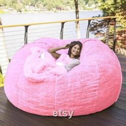 7-FT Large Giant Fuzzy Bean Bag Cover Chair Indoor Outdoor Game Seat Couch Lazy Bags