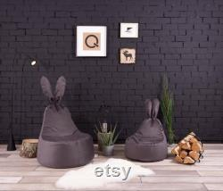 Baby Rabbit Beanbag Chair Reglisse Cover Only