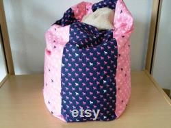 Baby pillow pink-purple horse, child seatbag 29