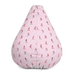 Beach Surf Pattern bean bag. Pouf Bean Bag Chair Cover. Meditation cushion. Home Decor. Floor Sitting. Room Decor