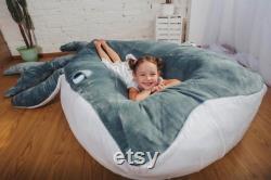 Bean Bag Bed Whale Kids Bean Bag Adult Bean Bag Floor Pillow Large Size Bean Bag Chair