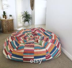 Bean Bag Colourful Rainbow Colours Parallels Bean Bag Cover. Adults Bean Bag, Kids Bean Bag. Cover Only.