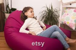 Beanbag Floor cushion Seat chair in pink xl Seat cushion for children 120cm x 138cm Seat cushion Eye-catcher super gift idea