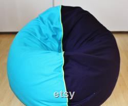 Beanbag, floor cushion XXL . Manual work. 135 cm diameter .