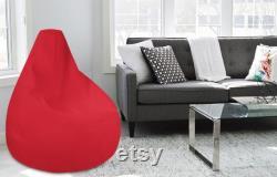 Black Bean Bag Chair -Black Bean Bag Cover- Red Bean Bag-Living Room Furniture-Bean Bags-Black Color Bean Bag-Yellow Bean Bag