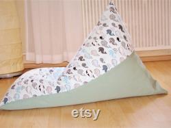 Children beanbag whales mint . Handmade