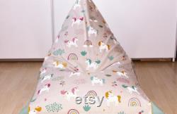 Children's beanbag EINHORN