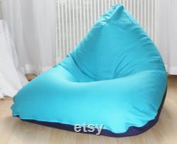 Children's beanbag . Handmade. turquoise blue