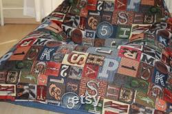 Children's beanbag XXL Numbers and Letters . Handmade.