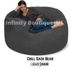 Chill Sack Bean Bag Chair, Giant 5' Memory Foam Furniture Bean Bag Big Sofa with Soft Micro Fiber Cover