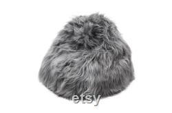 Classic Moon Grey Sheepskin Bean Bag