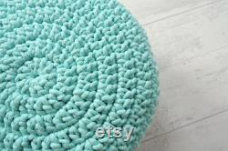 Crochet pouf, ottoman, toddler room decor, poof ottoman, nursery decor girl, nursery decor boy, SCANDINAVIAN POUF, gift for baby, child room