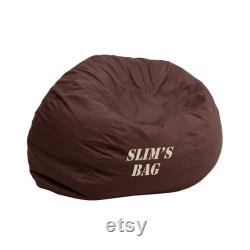 Custom Designed Bean Bag Chair for Adults with Personalized Name