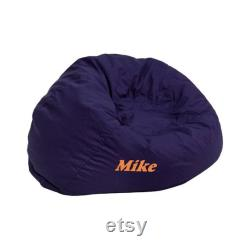Custom Designed Bean Bag Chair for Kids with Personalized Name