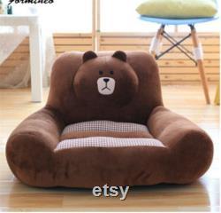 Detachable Washable Plush Toy Sofa Cartoon Animal Chair Child Adult Puppy Cat Bear Floor Seat