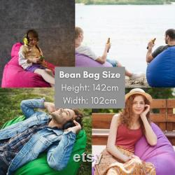 Fish Pattern, Sea World Bean Bag Chair Cover, Floor Pillow, Gaming Chair, Balcony Chair, Cozy Chair