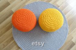 Floor pouf, crochet pouf for kids,