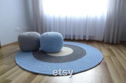 Foot stool, crochet pouf, floor pouf, nursery pouf, floor cushion, nursery decor boy, todder room decor boy, poof ottoman, nursery room