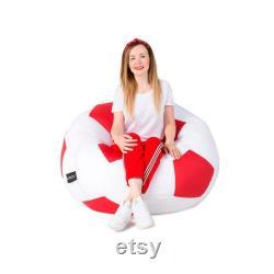 Football Bean Bag Chair, Sports Bean Bag Chair Cover, Chair-ball football, football Love, Leatherite Football Bean Bag, soccer ball chair