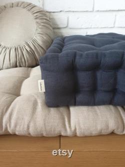French mattress M, floor cushion, quilted mattress, pillow, window seat, headrest NEW SIZE