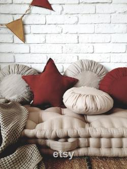 French mattress, floor cushion, mattress to order quilted mattress, day bed mattress, window seat, Linen mattress