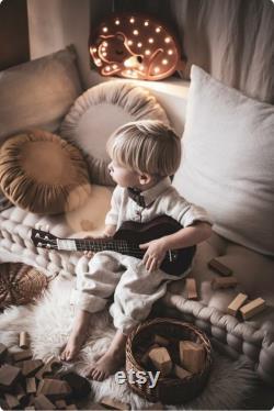 French mattress, floor cushion, quilted mattress, pillow, window seat, Flax quilted mattress sand, natural beige