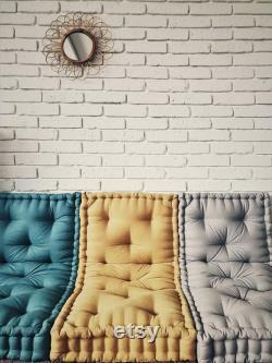 French mattress, floor cushion, quilted mattress, pillow, window seat, headrest, Quilted linen mattress