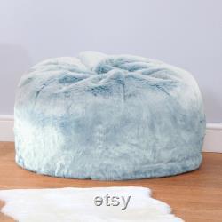 Frozen Blue Faux Fur Kids Bean Bag Large Children's Luxury Classic Beanbag Chair