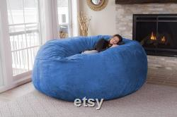Fur Soft Bean Bag Sofa Cover, Big Giant Round Fluffy Faux Cushion Bed
