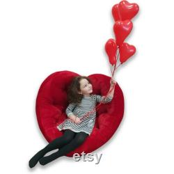 Futon Heart Valentine's day Chair Sofa Floor Mattress Lounge Chair Futon Floor Pillow