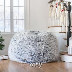 Fuzzy Bean Bag Chair, Faux Furry Bean Bag Chair