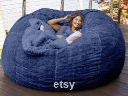 Giant 180 cmx 90cm Fur Bean Bag Cover, Removable and Washable