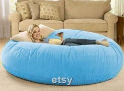 Giant Fur Bean Bag Cover Living Room Furniture Big Round Soft Fluffy Faux Fur BeanBag Lazy Sofa Bed Coat sofa bedcoucheleppersofa ed cover