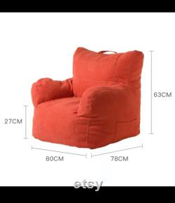 Handmade Bean Bag 63c Comes with Filling Lazy Sofa Chair 6 Colors