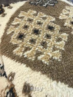 Handmade Vintage Pillow Anatolian Decorative Wool Ethnic Kilim Pouf 24 x24 x8