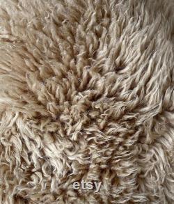 Honey Shaggy New Zealand Sheepskin Bean Bag
