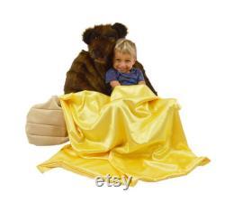 Honey bear bean bag chair with blanket of honey