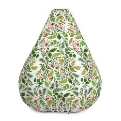 Jungle Forest bean bag. Pouf Bean Bag Chair Cover. Meditation cushion. Home Decor. Floor Sitting. Room Decor