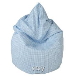 Junior Bean Bag Vichykaro pink light Blue