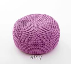 KID size POUF floor cushion hypoalergic pouf rope poof bean bag chair Ottoman
