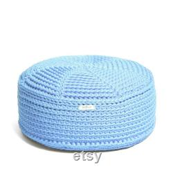 KID size POUF floor cushion hypoalergic pouf rope poof bean bag chair Ottoman footstool rustic pouf