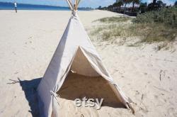 Kids Teepee (pre-order)- Light Grey Linen Teepee teepee tent Cotton Linen Teepee Play Tent Kids Teepee Grey
