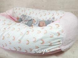 Kids beanbag, baby pillow fabric choice rainbow