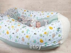 Kids beanbag, baby pillow jungle animals fabric choice