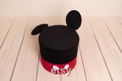 LITTLE MICKEY, mouse, kids pouf, velvet pouf, nursery pouf, kids decor,children room, best gift ever